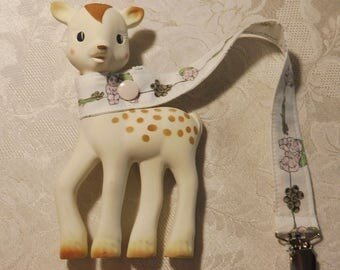 BatesCreates Sophie the Giraffe leash, tether, toy - 100% cotton fabric - topstitched (GUMNUT BABIES)
