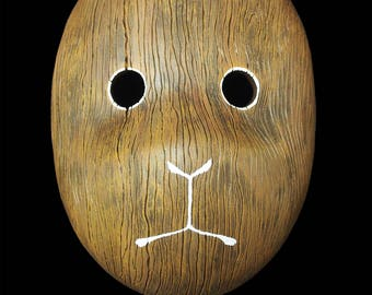 Painted Face - Animal Wood Grain Mask OOAK
