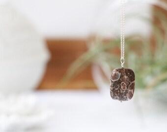 Turritella Rectangle Necklace