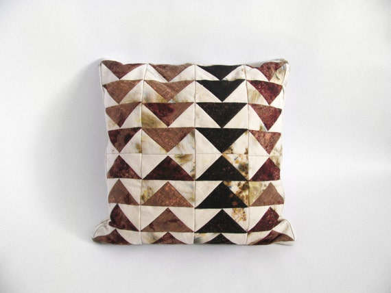 Triangles Patchwork Pillow