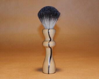 Black and White Ebony Shave Brush