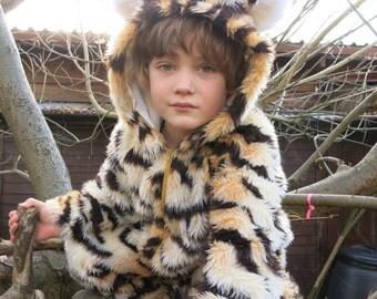 Tiger costume, Handmade Fur onesie