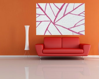 large canvas painting abstract Large pink modern abstract painting large abstract living room kitchen dinning bedroom wall art Home decor