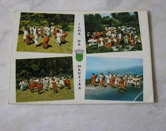 Vintage Used Portugese postcard 1970s Ilha Da Madeira beach resort from Portugal Portugese Folklore SKU F