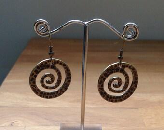 Antique brass Spiral earrings