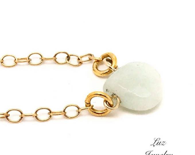 AMAZON Blue Amazonite Necklace Natural Raw Amazonite Necklace, Amazonite pendant, light amazonite necklace