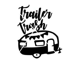 Trailer trash, Camper trailer digital file