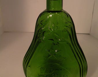 """Clevenger Brothers Glass""""Spearmint"""" Herb Bottle"""