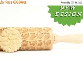 Rolling Pin engraved Easter Bunny  Embossing rolling pin, laser engraved rolling pin spring easter cookies  motive * Easter *