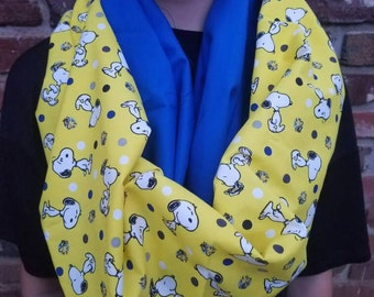 Snoopy and Woodstock women's scarf