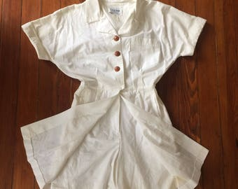 White romper skirt Super cute