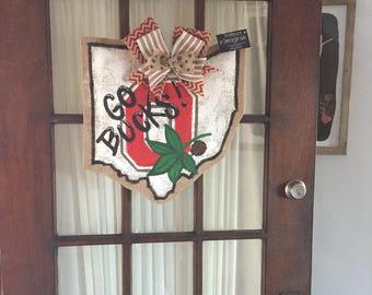 Ohio State Buckeye Door Hanger