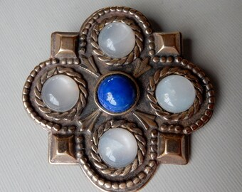 Frankish Pin with Moonstone and Lapis