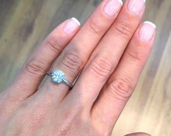 1.95 Carat Round Diamond Engagement Ring  14K White Gold  #J22613   FREE SHIPPING