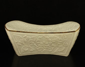N3502 Chinese Song Dynasty Gilt Edges Ding Kiln Porcelain Pillow