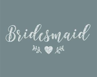 Bridesmaid Leaves of Love Iron On Decal