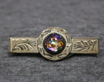 Sterling Silver Vinatge Antic Detail Brooch Pin