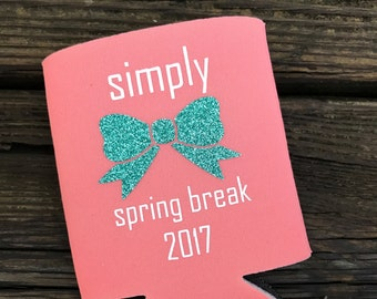 Simply Spring Break Can Cooler