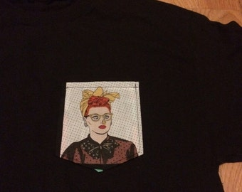 I Love Lucy Fire Nose Pocket Tee