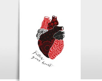 "Artprint ""Follow your heart"""