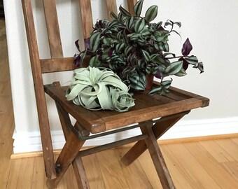 Antique Church Wooden Folding Chair