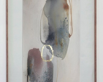 Large Abstract Art, Modern Painting - Original Watercolor, Zen Art, Contemporary Art / Abstract Watercolor