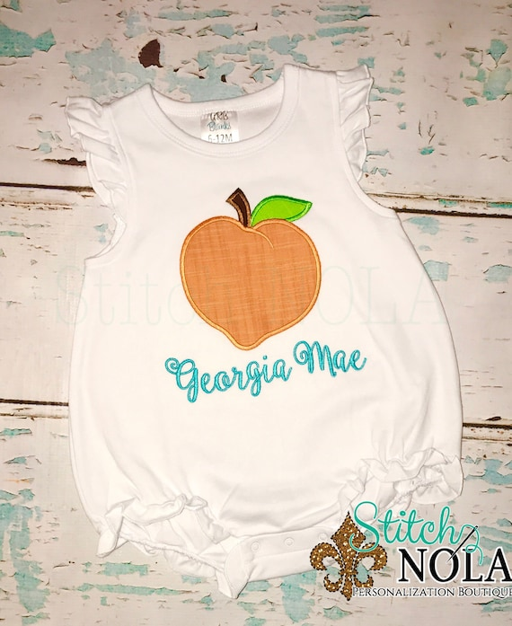 Peach Shirt, Bubble, Romper or Bodysuit, Peach Applique, Lemonade Shirt, Georgia Peach