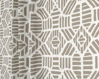 Home Decor Fabrics By The Yard in still another section you will find trims like ribbon and lace that you can buy by the yard just take them up to the cutting counter just like any Gray White Tribal Geometric Home Decor Fabric By The Yard Designer Cotton Drapery Curtains Fabric