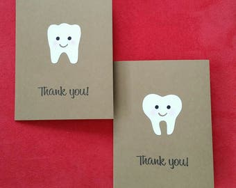 Set of 5 Tooth Thank You Card Set