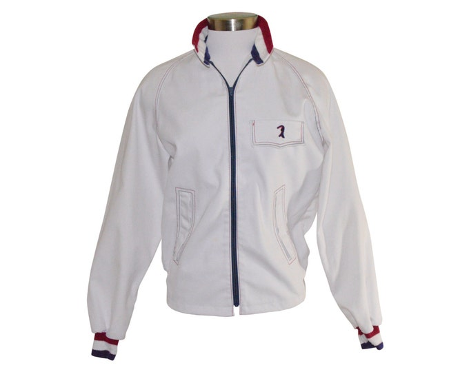 Vintage Estate Rod Laver White Tennis Wear Puritan Jacket