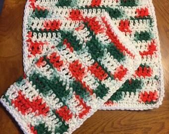 Christmas Handmade Dish Cloths, Set of 2