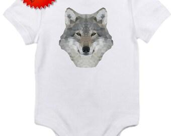 ON SALE Wolf bodysuit onesie you pick size newborn / 0-3 / 3-6/ 6-12 / 18 /
