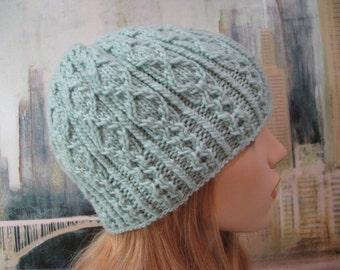 Women's Knitted Hat, Winter Hat, Dream in Color yarn, Takara-IV, Hand Knit Hat, Merino wool