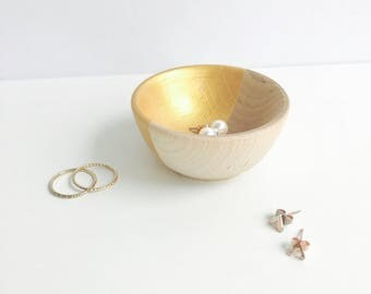 Gold Jewelry Holder | Ring Holder | Engagement Ring Holder | Ring Bowl | Earring Holder | Earring Bowl