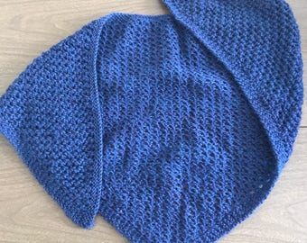 Navy Triangle Shawlette