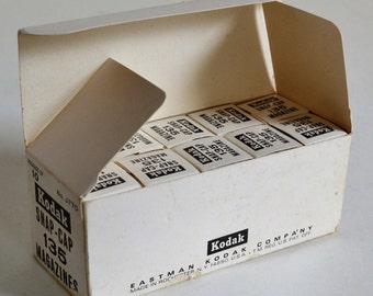 Box of 10 Vintage Sealed Kodak Snap-Caps, Re-loadable 35mm Film Magazine Cartridges