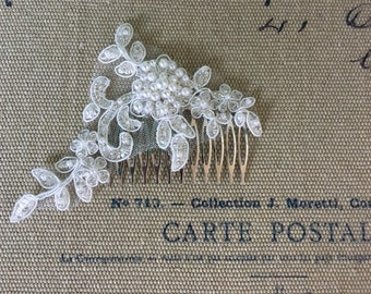 French lace with beading hair comb