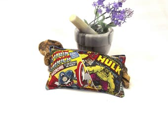 Comic Hot Cold Pack - Flax Heating Pad - Headache Relief Pad - Sinus Heat Therapy - Aromatherapy Relief  - Microwavable Eye Pad - Spa Gift