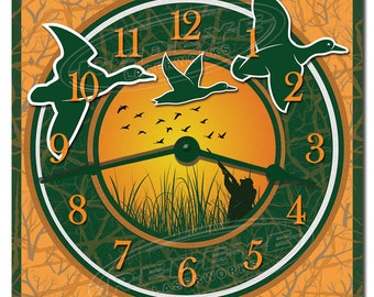 Duck Hunting Decorative Kitchen Wall Clock