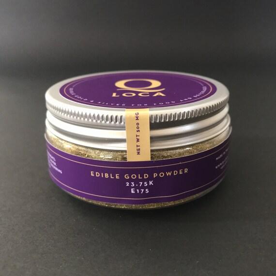 500 mg eetbaar goud stof eetbare gouden poeder door for Eetbaar goud