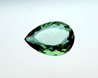 50% OFF - Green Tourmaline Pear Shape Faceted Gemstone 18x13x6 mm  Tourmaline Quartz