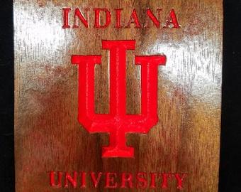 Indiana University Coaster Set/ Custom woodworking product