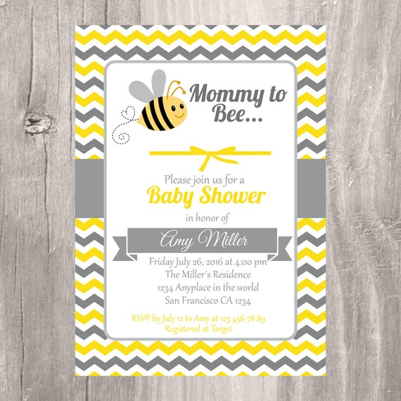 Baby shower invitation printable bumble bee baby shower invite il570xn filmwisefo Choice Image
