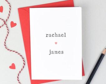 Love Card - Anniversary Card - Love Card  - Card for Wife - Card for Husband - Valentines Card - Valentines Card - Love You Card