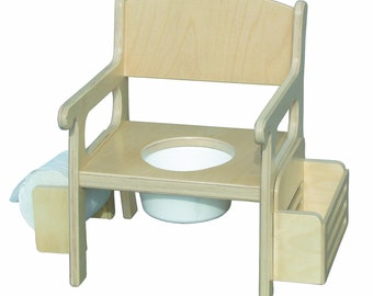 Potty Chair, Deluxe Potty Chair for Potty Training, Unfinished Wood Furniture