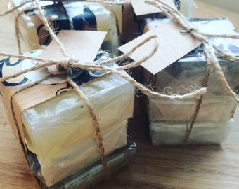 Organic Vegan Soap Sample Treats, x3 Samples, SLS free, Vegan Gift 30-60g each