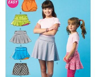 McCall's Sewing Pattern M6918 Children's/Girls' Flared Skorts