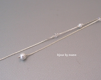Wedding Bridal Jewelry for Bridal Necklace with Pearl and Crystal Beads