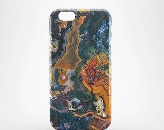 Agate marble 3D case Apple iPhone 4 5 6 7 Samsung Galaxy S6 S7 #11