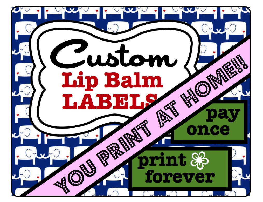 Personalized lip balm labels printable custom labels for 2 125 x 1 6875 label template